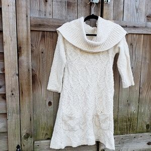 Anthropologie Sleeping on Snow Sweater Dress